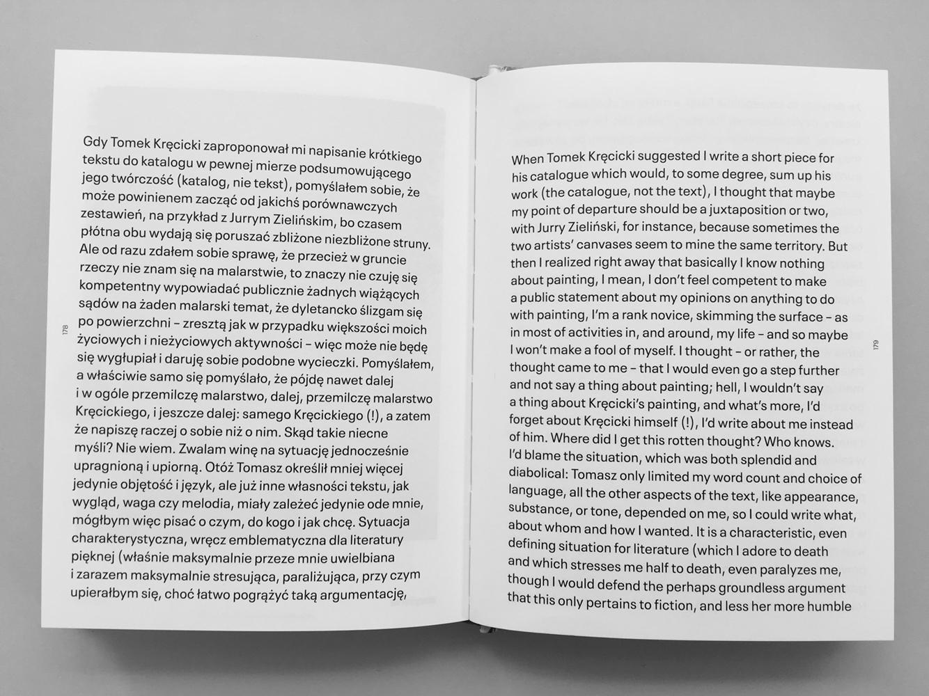 Łukasz Zawada – Gdy Tomek Kręcicki zaproponował mi napisanie krótkiego tekstu – When Tomek Kręcicki suggested I write a short piece – 1