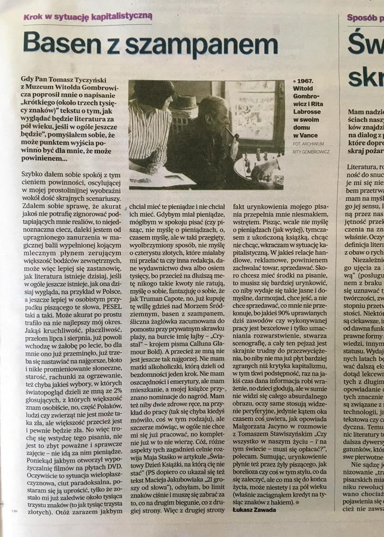 Basen z szampanem – Gazeta Wyborcza